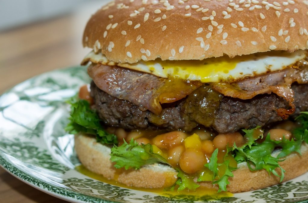 British Breakfast Burger