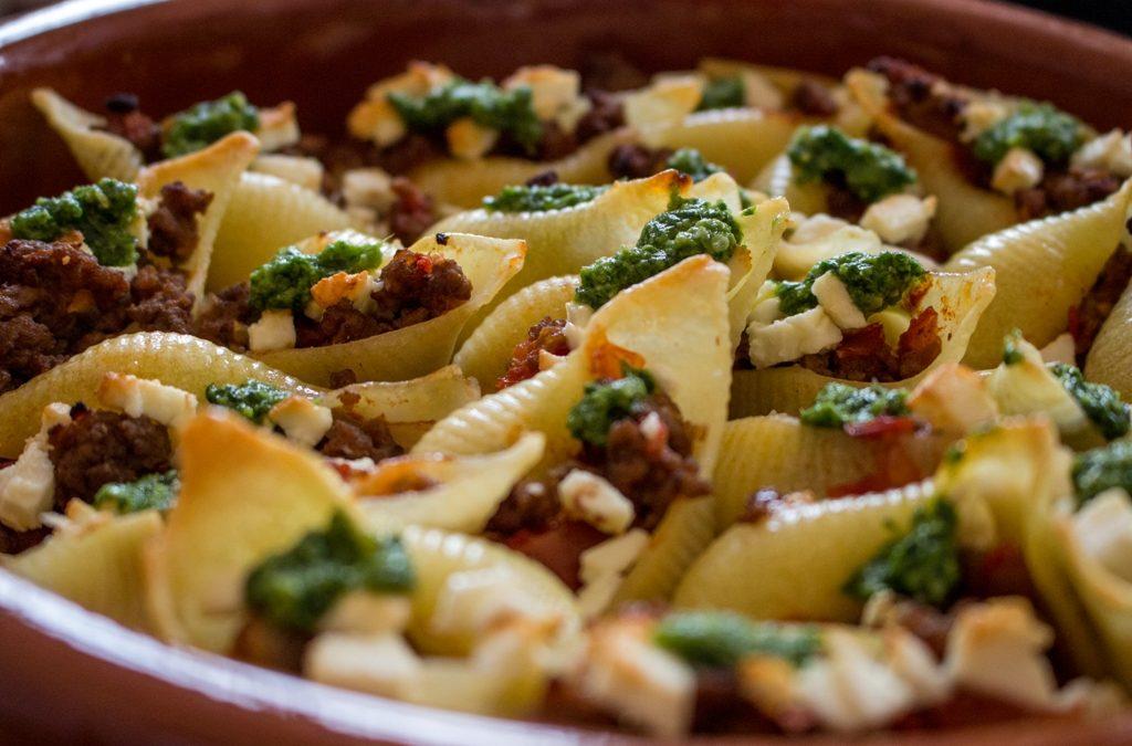 Conchiglioni mit Rosmarin-Pesto